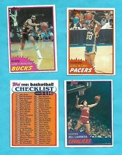 1981-82 TOPPS BASKETBALL COMPLETE MIDWEST SET  SET 44 CARDS * NMT-MT *