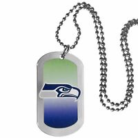 Seattle Seahawks Team Tag Necklace NFL Football Licensed Jewelry Dog Tag Style