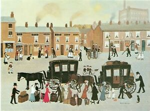 Mounted Print. Helen Bradley. Loading Luggage for our Holiday