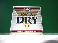 LABATT'S CANADIAN DRY BEER CANADA'S EASY DRINKING DRY TIN BAR SIGN