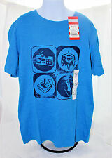 NWT Boys Cat & Jack Bright Blue Video Game T-shirt Size M (8/10) NEW