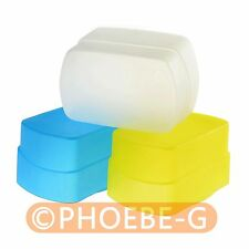 Blue + Yellow + white kit Flash Diffuser for HVL-F58AM