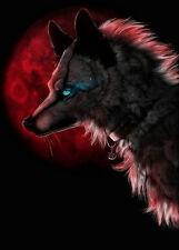 BLOODMOON WOLF cross stitch chart miliardi! (W06)