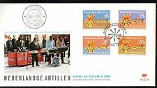 Dutch Antilles - 1968 Social/cultural welfare Mi. 190-93 clean unaddressed FDC