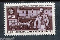 AUTRICHE - 1974, timbre 1295, UPU, Train cheval, neuf**
