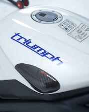R&G Racing tanque de fibra de carbono deslizadores para caber Triumph Street Triple 765 2017-2018