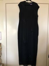 Ben de Lisi full length black evening gown/dress, UK size 16; hardly worn