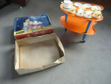 RARE VINTAGE 50/60s MISS POLLY TEA SET & TROLLEY 100% COMPLETE BY COMBEX BRITISH