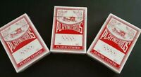 3 Decks VINTAGE Easy Read Plastic Coated Playing Cards All SEALED L1940
