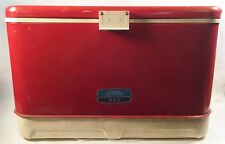 Vintage Red Thermos Ice Chest