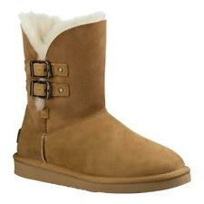 UGG Womens Renley Leather Rain Boot Chestnut Size 5  Brand New