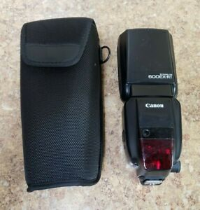 Canon Speedlite 600EX-RT Flash w/ Case Pre-owned Free Shipping