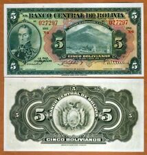 Bolivia, 5 Bolivanos, L. 1928, P-120, UNC