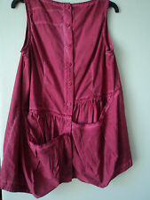 GORGEOUS RUNDHOLZ STRAWBERRY COTTON TUNIC TOP SIZE S BNWOT DRAPED/POCKET BACK