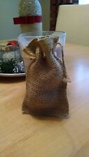 "20 Burlap Bags with Drawstring Small 3x5"" Party Favors Wedding Gift Birthday!"