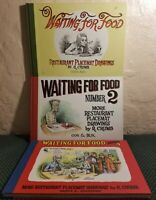 Waiting For Food Number 1 2 3 More Placemat Drawings Robert Crumb Book lot Art