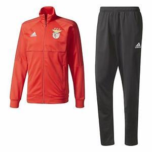 adidas SLB Suit Benfica Lissabon Trainingsanzug Fußball Sportanzug Portugal NEU