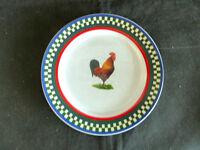 "Ella's Rooster 1 Salad Plate  Bob Timberlake International Tableworks 7 7/8"""