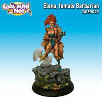 Cool Mini Or Not: Elena, Female Barbarian - CME0023