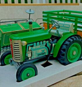 Blech Traktor ZETOR Landmaschinen Set 1:25 KOVAP