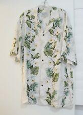 Halekulani Mens Cream Hawaiian Orchid Rayon Aloha Shirt Sz XL - NWOT
