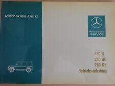 Betriebsanleitung Mercedes Benz 230G, 230 GE, 280GE, neuwertig