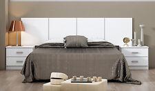 Hogar24.es-Dormitorio de Matrimonio Smarty: Cabecero+2 mesitas color blanco