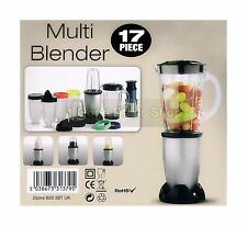 MULTI 17PC BULLET BLENDER JUICER SMOOTHIE MAKER MIXER CHOPPER FOOD PROCESSOR SLV
