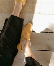COCLICO SHOES ELECTRA LOAFER PUMP YELLOW SUEDE 38 $360 MOD STYLE