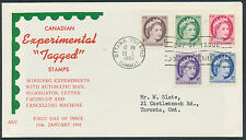 1962 #337p-341p Wilding Winnipeg Tagged Combo FDC, Unusual ARC Cachet