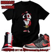 CUSTOM T SHIRT Air Jordan 1 Retro High OG Homage To Home matching TEE JD 1 1f90671d8