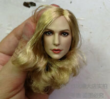Free Shipping1/6 head sculpt sexy female girls Gal Blond Long Curls Hair fit 12""