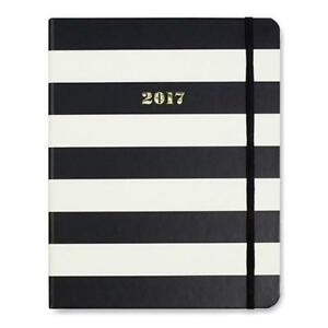 Kate Spade The Stage Black Stripes 17-Month Large Agenda Planner 2017 Display