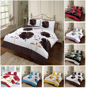 Rosaleen Duvet Cover Set Floral Reversible Bedding Set With Pillow Case All Size