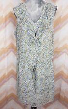 NWT MOSSIMO SUPPLY Co Sz XXL Gray Floral Tiered Tied Sleeveless Ruffled Dress