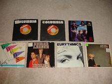 "Lot of 7 1980's Pop 7"" 45rpm Records Go-Gos,Eurythmics,Lisa Lisa VG+/EX Cond."