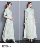 New Retro Women's Ladies Formal Cheongsam Wedding Party Prom Cocktail Maxi Dress