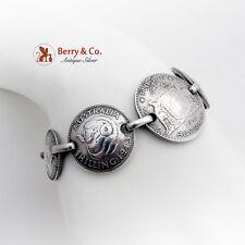 Australian Silver Coin Bracelet 1950