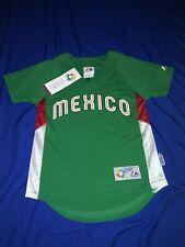 "*MEXICO*(2009)""World Basball Classic"" Green (Blank Back) Majestic Jersey*NEW*(S)"