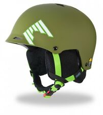 SHRED HALF BRAIN SKI & SNOWBOARD RACE HELMET XS / M 52 - 56 Woodland Mil. Green
