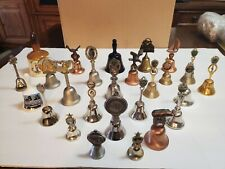 Lot Of 26 Souvenir Bells Ceramic And Metal Pre Owned