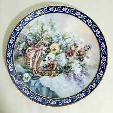 Pansies Collector Plate 2 in series Lena Liu's Basket Bouquets 1992 W.S. George