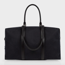 Paul Smith Bag - Men's Black Canvas & Leather Travel Travely Holdall RRP: £500