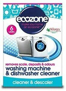 Ecozone Washing Machine and Dishwasher Cleaner Tablets, Pack of 6 ( UK Stock )
