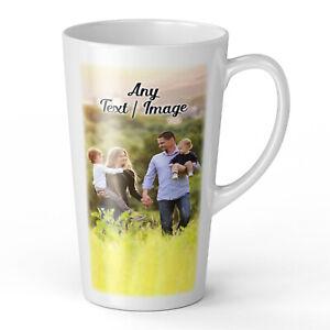 17oz Personalised Any Text / Image Novelty Gift Latte Mug