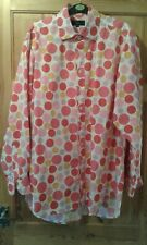 Boden Long Sleeved White with Multicoloured Spots Shirt Neck 16 1/2