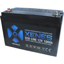 XENES ECO-Line 12V LiFePO4 100Ah Smart-BMS Lithium Versorgung Batterie Akku