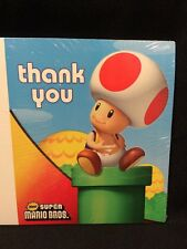 Super Mario Bros Party Supplies Thank-You Notes (8) Stationary Unopened 2008