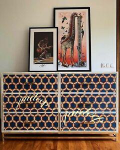 Handmade Bone Inlay Honeycomb Chest of Drawer sideboard