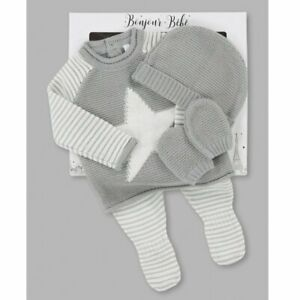 Baby boys Spanish style knitted 4 piece Star set NB 0-3 3-6 months